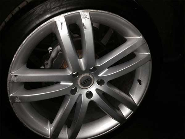 Alloy Wheels With Scratches and Scuffs